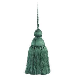 Pyar & Co. Trellis Home Tassel, Dark Green, Small For Sale