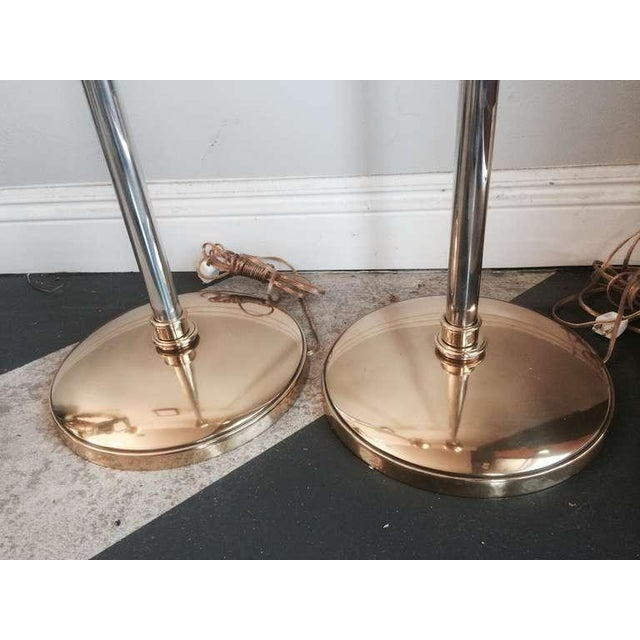 Tommy Parzinger Brass Torchieres - A Pair - Image 5 of 6