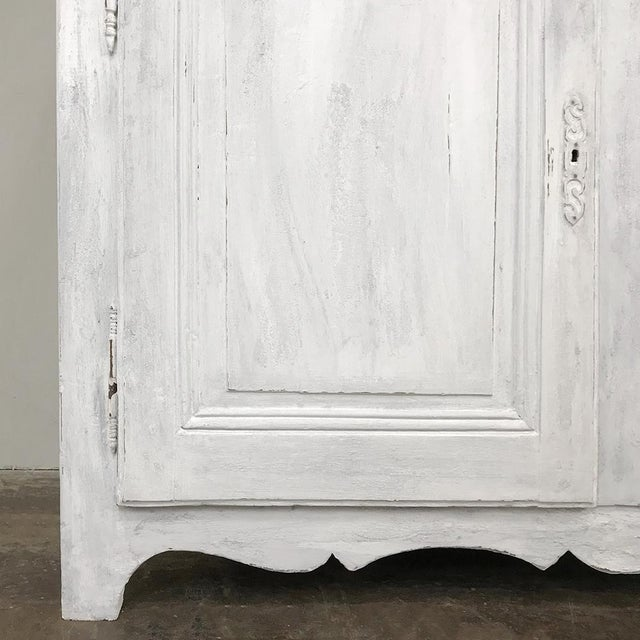 White 18th Century Country French Provincial Painted Buffet For Sale - Image 8 of 13