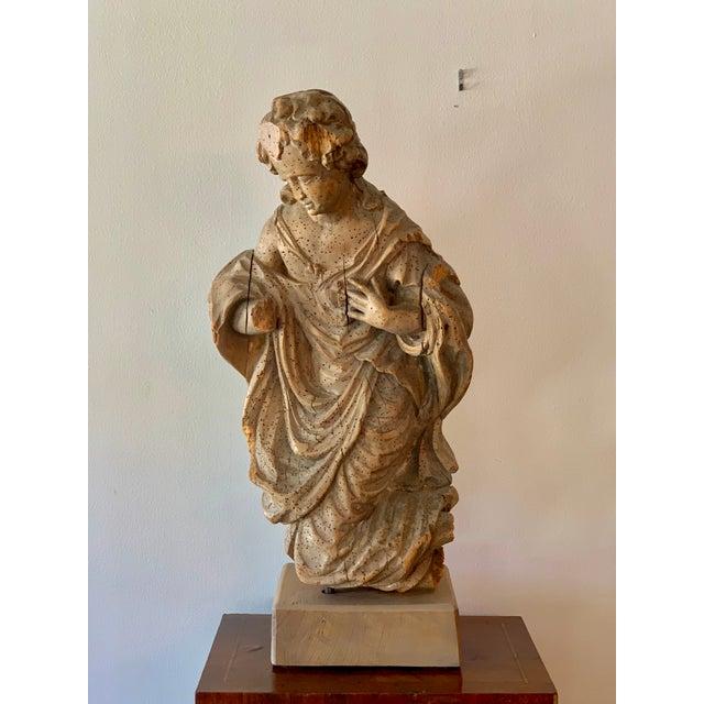 Chestnut Antique Carved Architectural Figure For Sale - Image 8 of 8