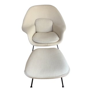 Late 20th Century Vintage Knoll Womb Chair & Ottoman For Sale