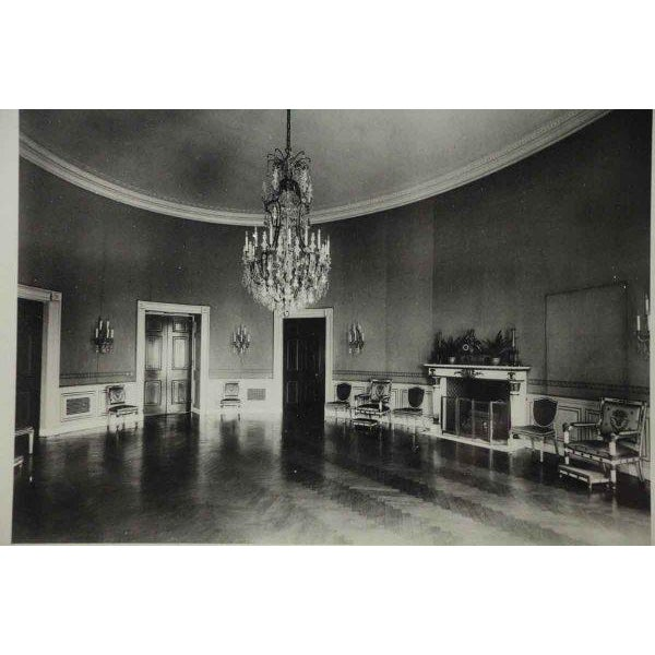 Early American Framed Photo of the Interior of the White House For Sale - Image 3 of 8