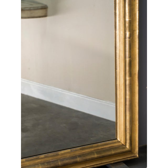 Gold Antique French Louis Philippe Mirror with a Cartouche circa 1890 For Sale - Image 8 of 10