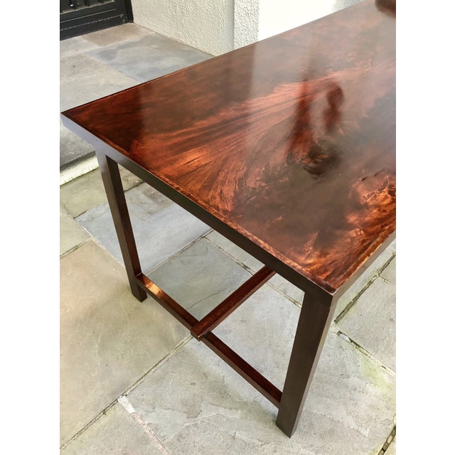 Custom Flame Mahogany Collapsible Dessert or Serving Table For Sale - Image 4 of 10