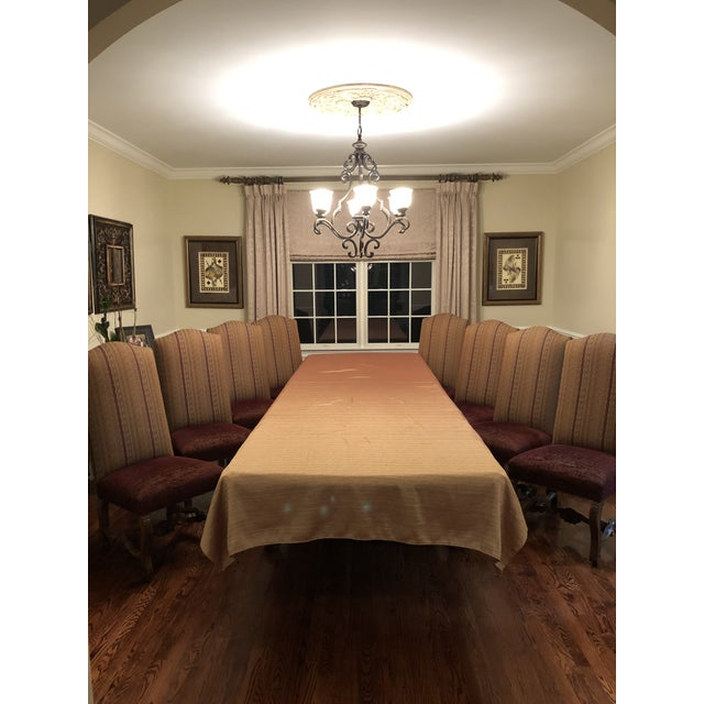 Wood Christopher Douglas Dining Chairs - Set of 8 For Sale - Image 7 of 8