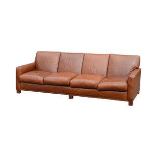 Ralph Lauren Large Brown Leather Sofa