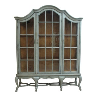 French Country Century Furniture Monumental Bordeaux China Cabinet Breakfront For Sale