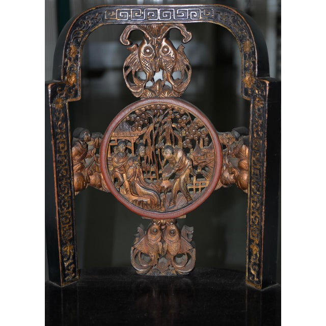 19th Century Carved & Painted Chinese Side Chair For Sale - Image 9 of 13