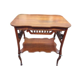 Antique 19th Century Victorian Spindle Table For Sale