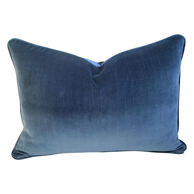 Blue & Black Scalamandre Le Tigre Pillow - Image 2 of 3