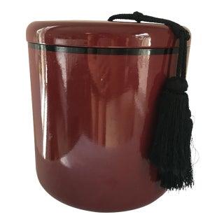 Lacquer Ice Bucket W/Silk Tassel For Sale