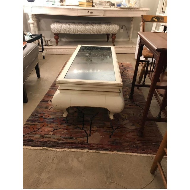 This is a beautiful Valero white and marble top coffee table. It is mid century and a great piece. It is from the 1960's...
