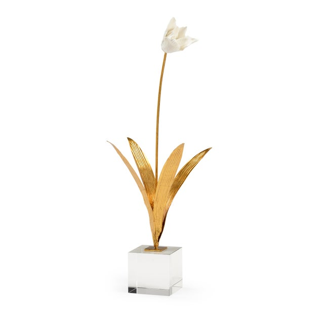 Contemporary Chelsea House Inc Tulip in Stand Sculpture For Sale - Image 3 of 3
