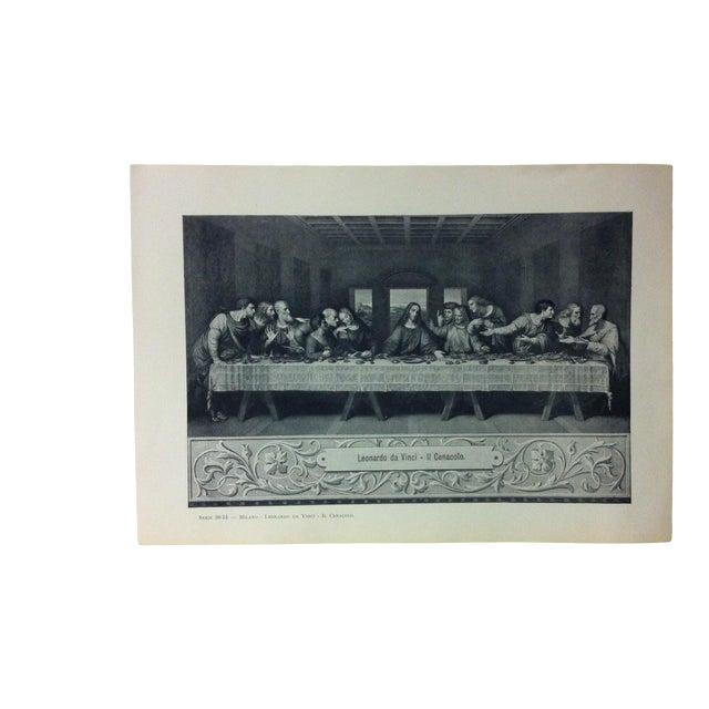 """Circa 1930 """"Leonardo Da Vinci - Il Cenacolo"""" Print of Milano Italy Print For Sale"""
