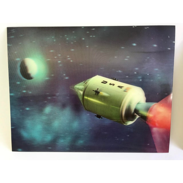 Lenticular Animation Moon Landing Astronaut Prints From 1966 - Set of 4 For Sale In San Diego - Image 6 of 12