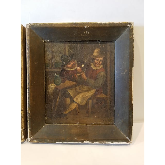 Figurative Pair of Dutch Paintings For Sale - Image 3 of 8
