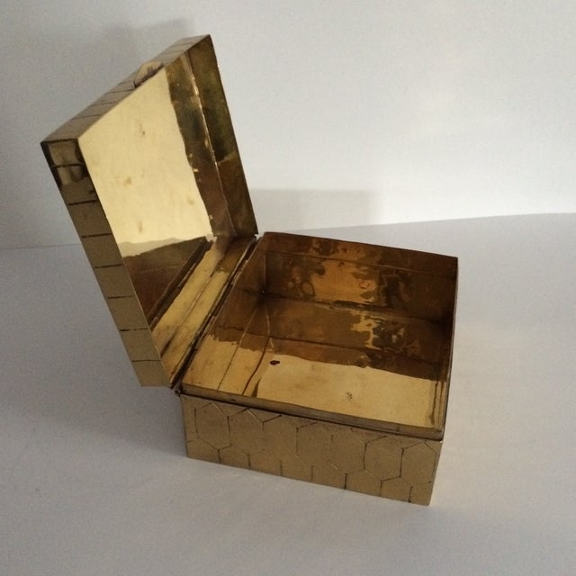 Honeycomb Pattern Brass Box - Image 6 of 6