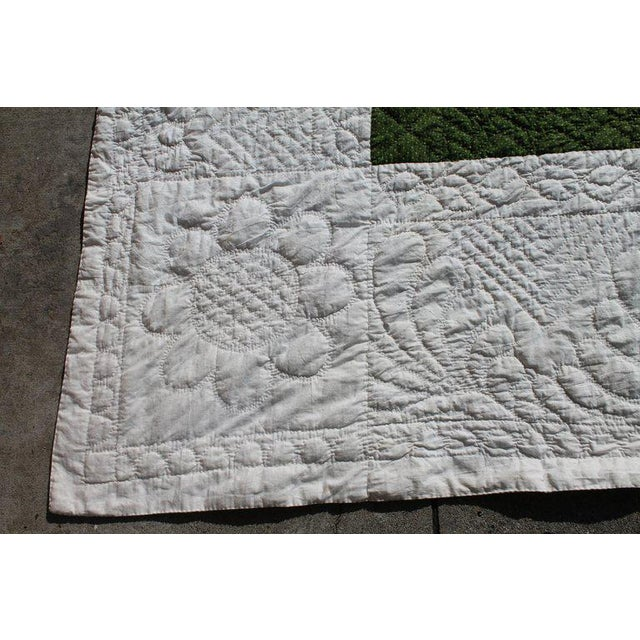 Antique Quilt 19th Century Delectable Mountains Quilt For Sale In Los Angeles - Image 6 of 9