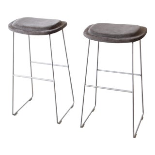 Italian Bar Stools by Cappellini, a Pair
