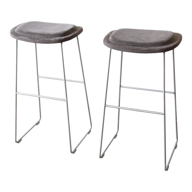 Italian Bar Stools by Cappellini, a Pair For Sale