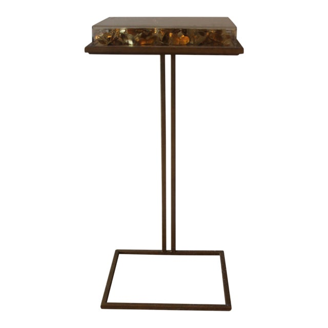 Modern Tommy Mitchell Lucite Butterfly Tray Table For Sale