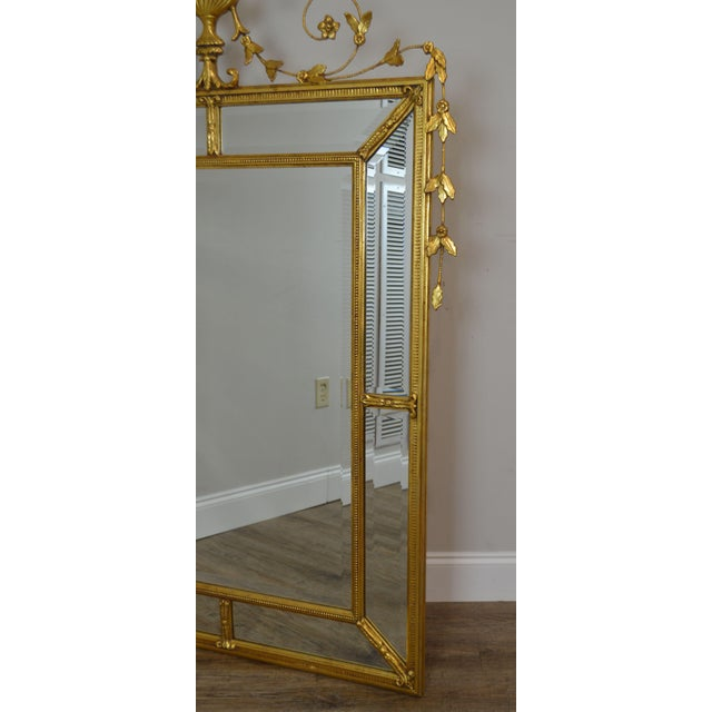 """Friedman Brothers Gold Gilt Frame Louis XVI Style """"The Dorset-Cromwell"""" Mirror For Sale - Image 9 of 12"""