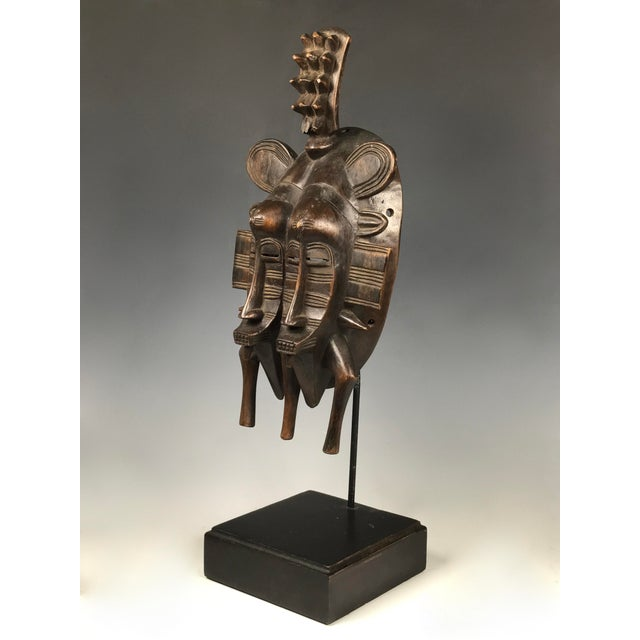 African African Art Double Face Senufo Mask For Sale - Image 3 of 7