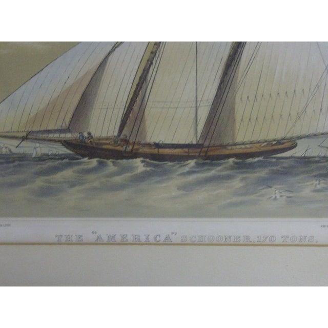 The American Schooner Print, 1850 For Sale - Image 4 of 8