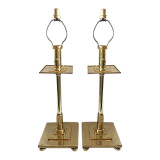 Chapman Brass Table Lamps - A Pair