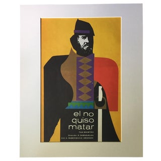 "1970s Vintage Cuban Dugald Stermer Soviet Film ""El No Quiso Matar"" Poster For Sale"