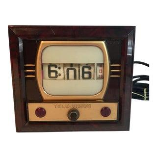 Mid-Century Television Clock