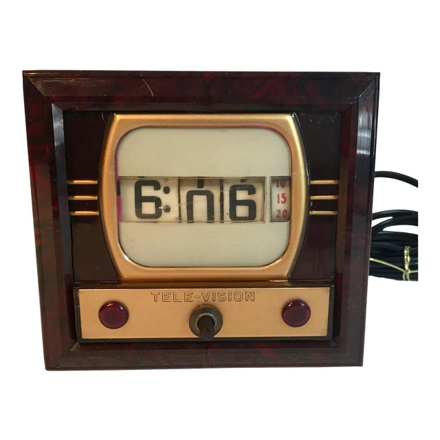 Mid-Century Television Clock For Sale