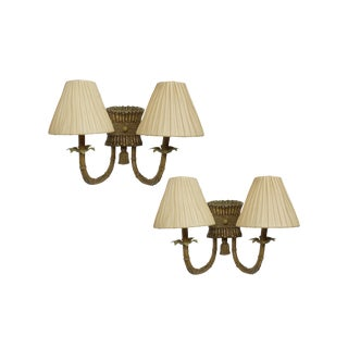 Islander Double Arm Bamboo Wall Sconces by Fanimation - a Pair For Sale