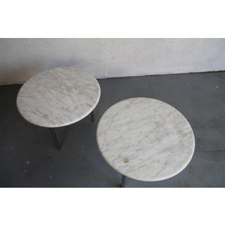 Erwine & Estelle Laverne Rare Marble and Chrome Side Tables Preview