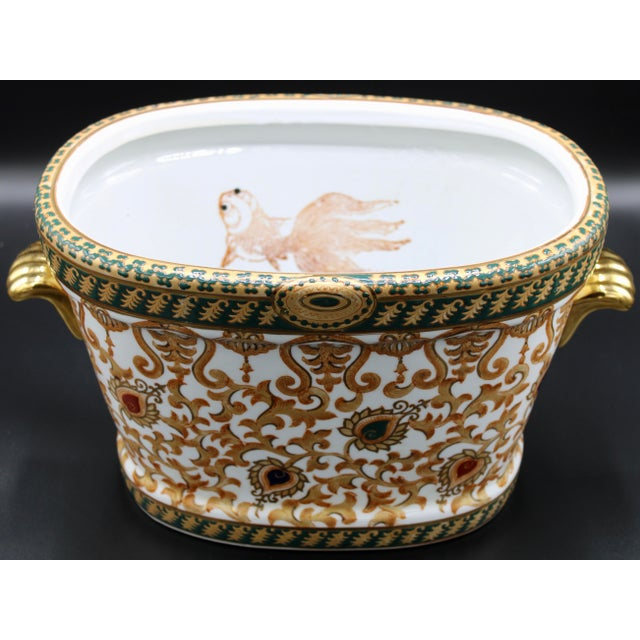 Chinese 1970s Chinese Porcelain Foot Bath For Sale - Image 3 of 10