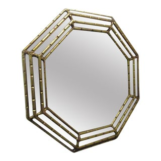 Octagonal Gold Gilt Mirror For Sale