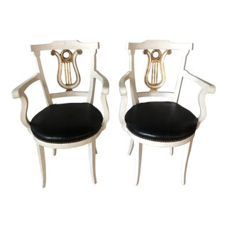 1980s Hollywood Regency Armchairs - a Pair