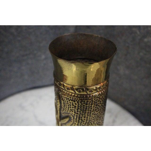 Art Deco Antique WWI Artillery Shell Vase For Sale - Image 3 of 5