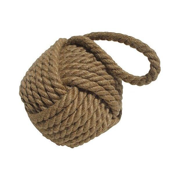 Jute Knot Balls - A Pair - Image 2 of 2