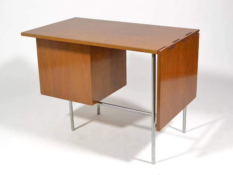 Chrome George Nelson Model 4754 Drop Leaf Desk By Herman Miller For Sale    Image 7