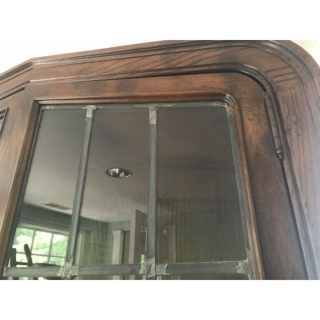 Henredon Lighted Walnut Display Cabinet For Sale In Chicago - Image 6 of 11