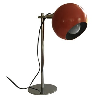 Orange Vintage Mid-Century Eyeball Lamp