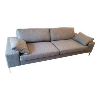 Modern Dag Hjelle for Design Within Reach Dark Gray Ducale Wool Arena Sofa For Sale