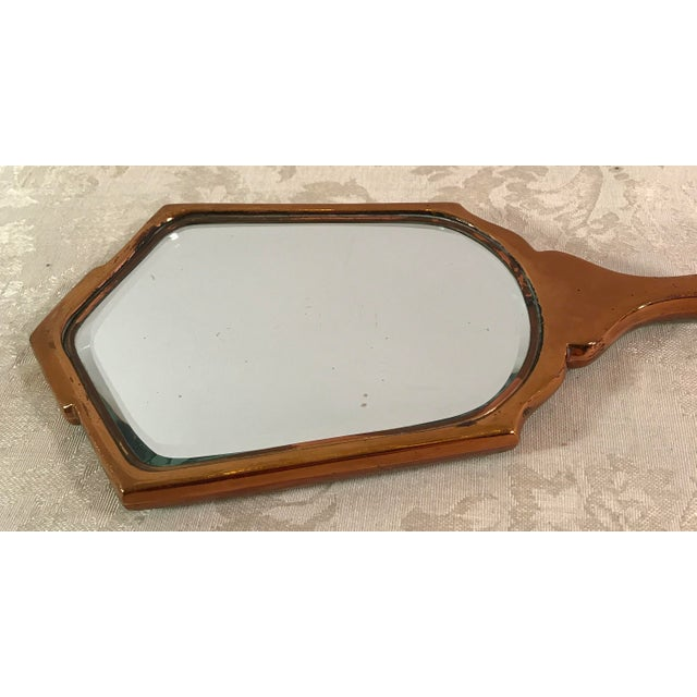 Art Deco Green Guilloche Hand Mirror - Image 9 of 11