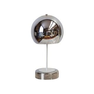 "Chrome ""Eyeball"" Table Lamp For Sale"