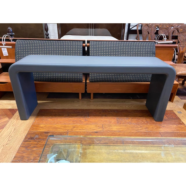 Gray Late 20th Century Karl Springer Style Arch Gray Console Table For Sale - Image 8 of 8
