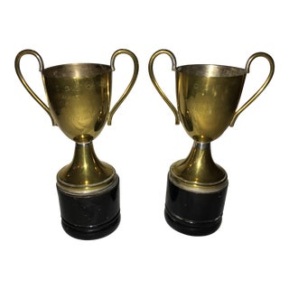 1953 Singles & Mixed Doubles Tennis Trophies - a Pair For Sale