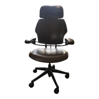 Humanscale Brown Leather Chair