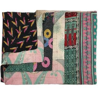 Vintage Kantha Quilt For Sale