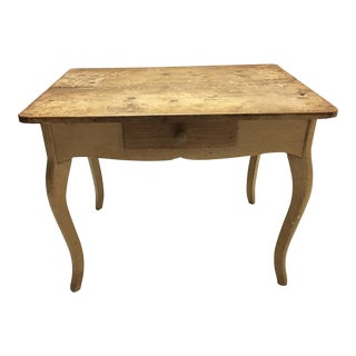 Antique Distressed Farm Table For Sale